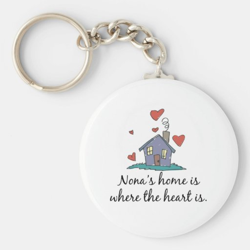 Nona's Home is Where the Heart is Keychain