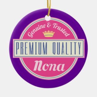 Nona (Funny) Gift Round Ceramic Decoration