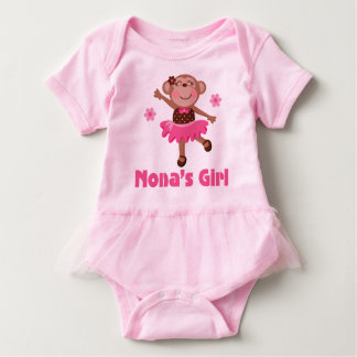 Nona's Girl Grandchild Monkey Ballerina Tutu Tee