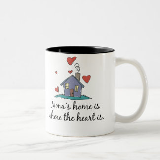 Nona's Home is Where the Heart is Coffee Mugs