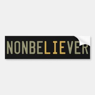 NonbeLIEver Bumper Sticker