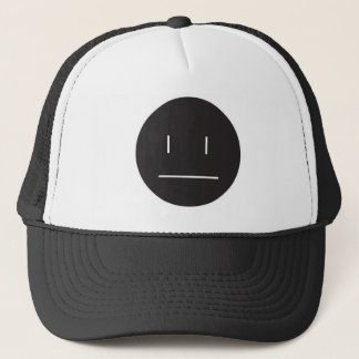 nonchalant face negative trucker hat