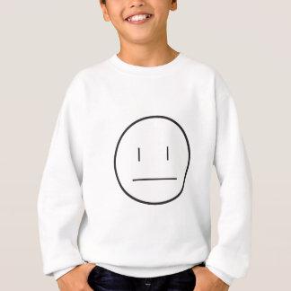 nonchalant face sweatshirt