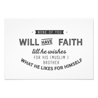 None of you will have faith photo print
