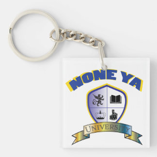 None Ya University Crest Key Chain