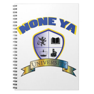 None Ya University Crest Notebook