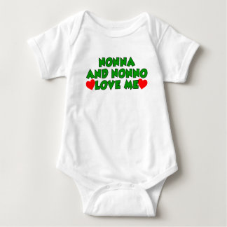 Nonna And Nonno Love Me Baby Bodysuit
