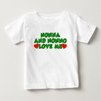 Nonna And Nonno Love Me Baby T-Shirt