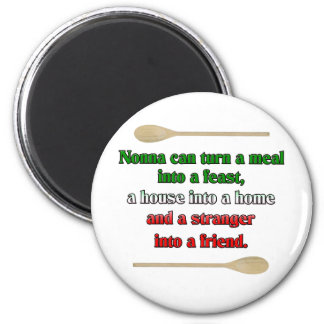 Nonna can turn a meal into a feast 6 cm round magnet