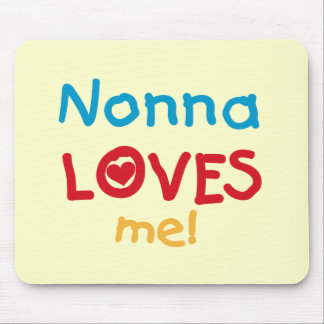 Nonna Loves Me T-shirts and Gifts Mousepads