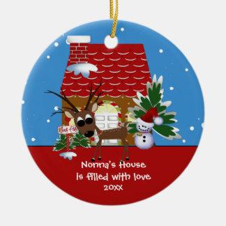 Nonna s Love House Christmas Ornament
