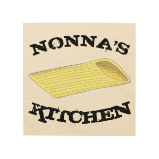 Nonna's Kitchen Penne Pasta Italian Food Cooking Wood Wall Art
