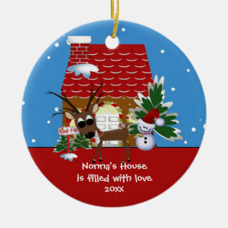 Nonna's Love House Christmas Ornament