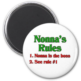 Nonna's Rules 6 Cm Round Magnet