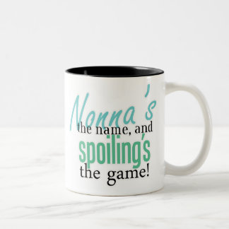 Nonna's the Name, and Spoiling's the Gam Two-Tone Mug