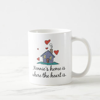 Nonnie's Home is Where the Heart is Coffee Mug