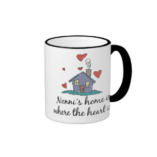 Nonni's Home  is Where the Heart is Coffee Mugs