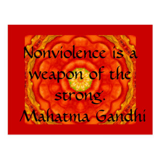 Nonviolence is a weapon of the strong. - Gandhi Postcard