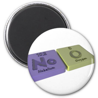 Noo as No Nobelium and O Oxygen Fridge Magnets
