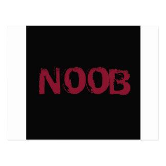 NOOB Text on black Postcard