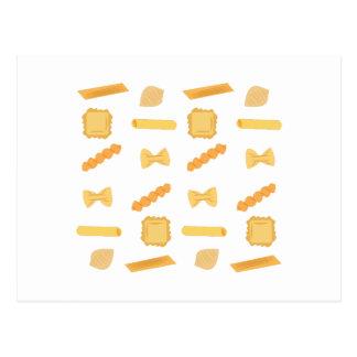 Noodle Shapes Postcard