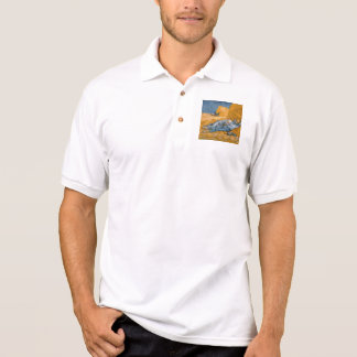 Noon – Rest from Work by Vincent Van Gogh Polo Shirt
