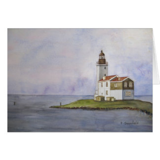 Noord Holland Lighthouse, The Netherlands Card