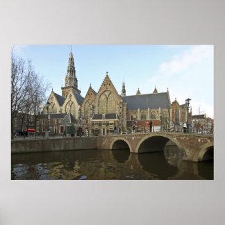 Noorderkerk in Amsterdam the Netherlands Poster