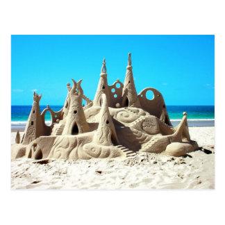 Noosa Beach Sandcastle Postcard