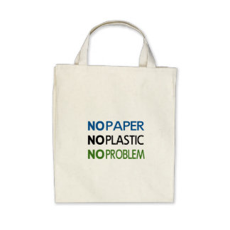 NoPaperNoPlastic Reusable Shopping Bag