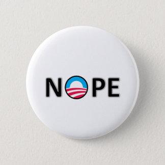 nope 6 cm round badge