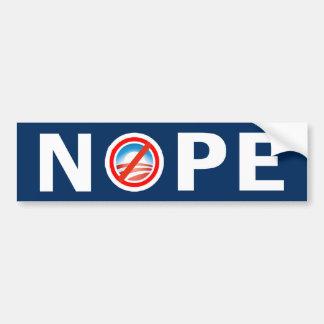 NOPE Anti Obama Bumper Sticker
