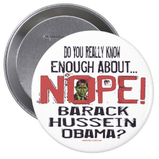 Nope Anti Obama Button