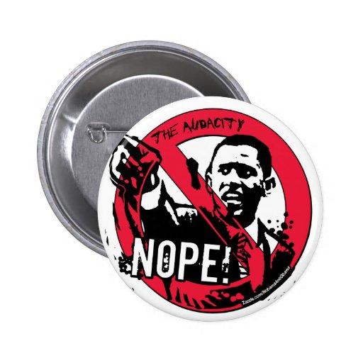 Nope Anti Obama Gear '08 Pinback Button