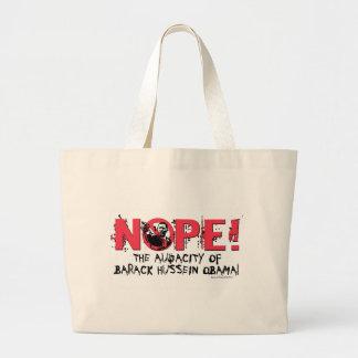Nope Anti Obama Gear '08 Large Tote Bag