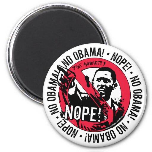 Nope Anti Obama Gear '08 Refrigerator Magnet