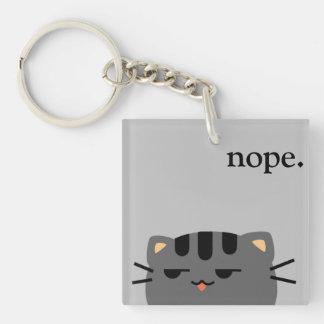 Nope Kitty Key Ring