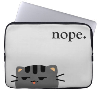 Nope Kitty Laptop Sleeve