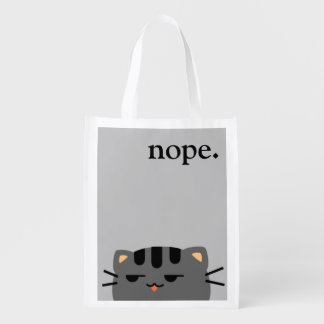 Nope Kitty Reusable Grocery Bag