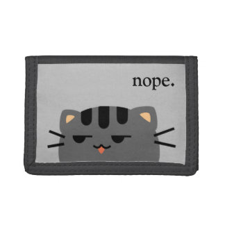 Nope Kitty Tri-fold Wallets