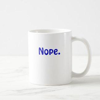 Nope Basic White Mug