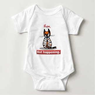 Nope Not Happening Calico Cat's Back Baby Bodysuit