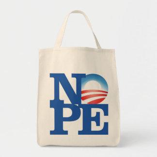 NOPE - Organic Grocery Tote Grocery Tote Bag