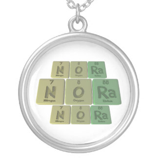 Nora as Nitrogen Oxygen Radium Silver Plated Necklace
