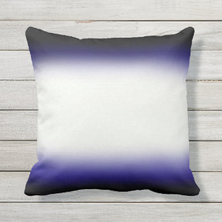 Nordic Blue Black|Blue|White Outdoor Cushion