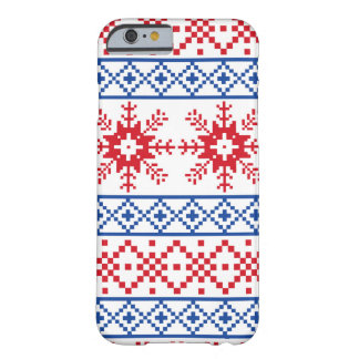 Nordic Christmas Snowflake Borders Barely There iPhone 6 Case