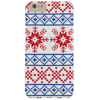 Nordic Christmas Snowflake Borders Barely There iPhone 6 Plus Case