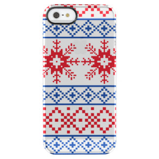 Nordic Christmas Snowflake Borders Clear iPhone SE/5/5s Case