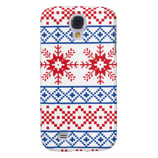 Nordic Christmas Snowflake Borders Galaxy S4 Cases