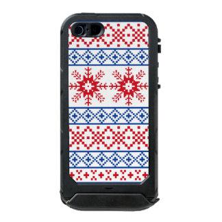 Nordic Christmas Snowflake Borders Incipio ATLAS ID™ iPhone 5 Case